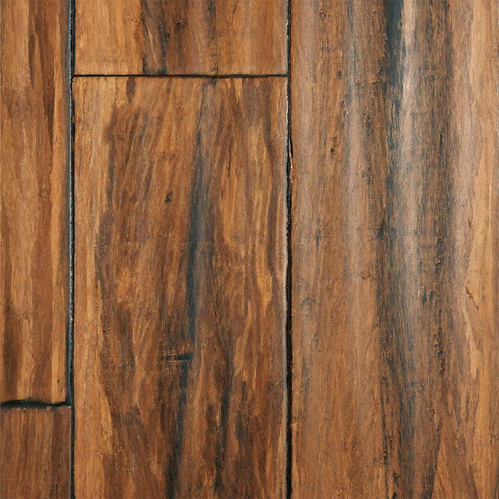 "Lumber Liquidators: 1/2"" X 5"" Antique Click Strand Distressed Bamboo"