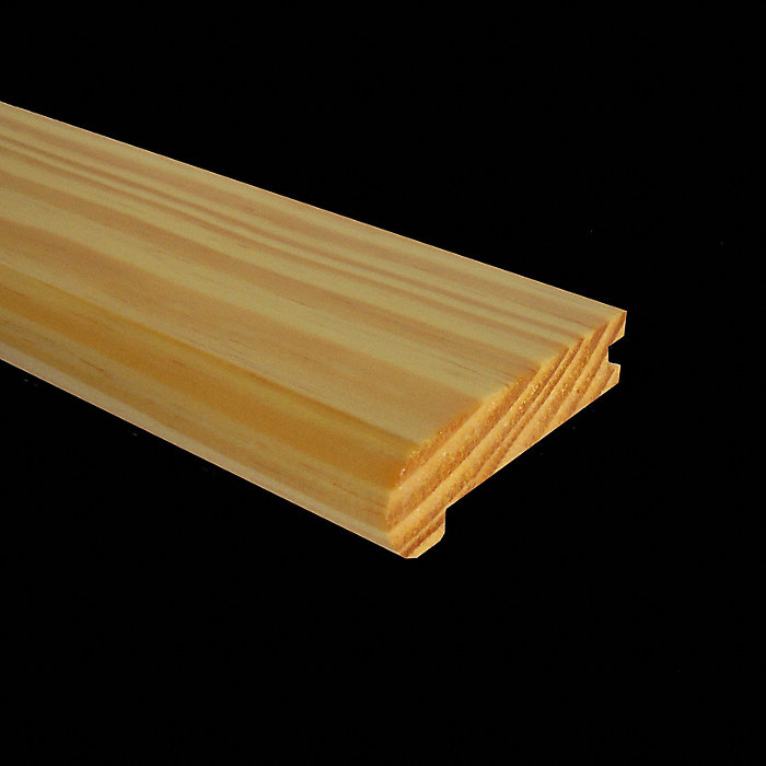 Prefinished Natural Heart Pine Stair Nose   Fullscreen