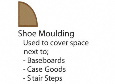 Prefinished Golden Acacia Shoe Molding