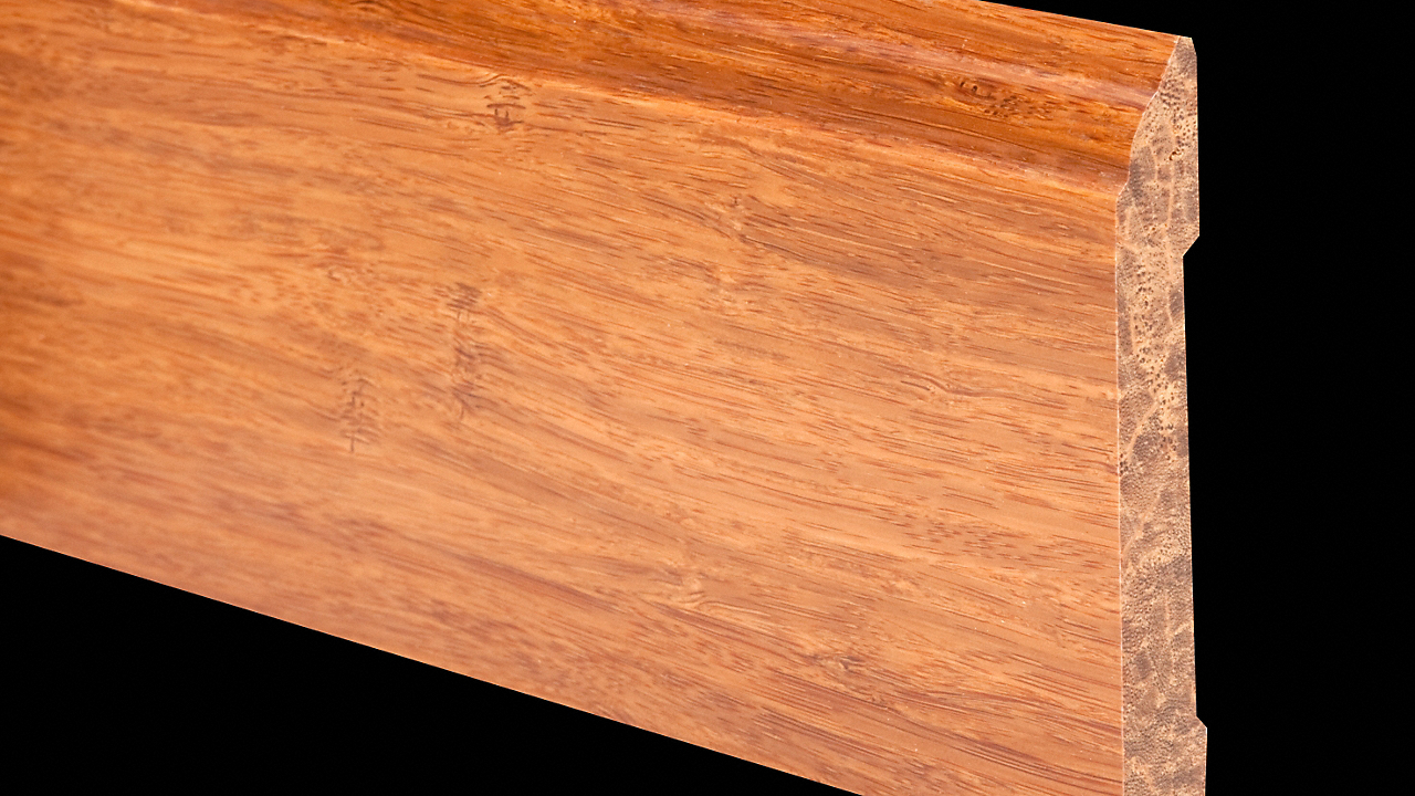 6LFT Carbonized Stranded Bamboo Baseboard