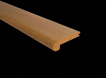 "3/8"" x 2-3/4"" x 6.5 LFT Red Oak Stair Nose"