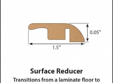 Gunstock Oak Laminate Reducer