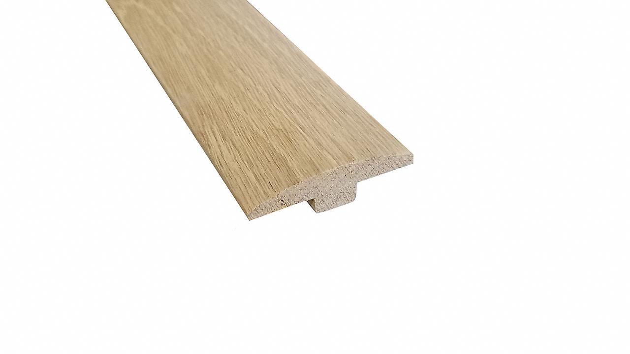 """1/4"""" x 2"""" x 96"""" Unfinished White Oak T-Molding"""
