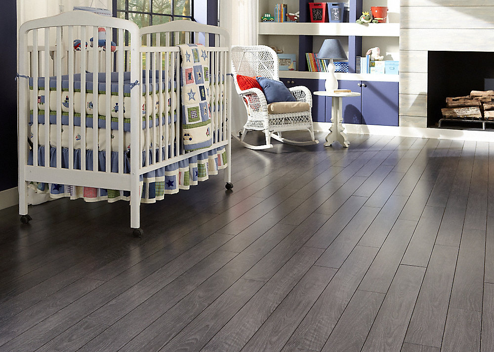 Laminate Flooring With Pad how to install laminate flooring with underlayment attached 12mmpad Flint Creek Oak Fullscreen