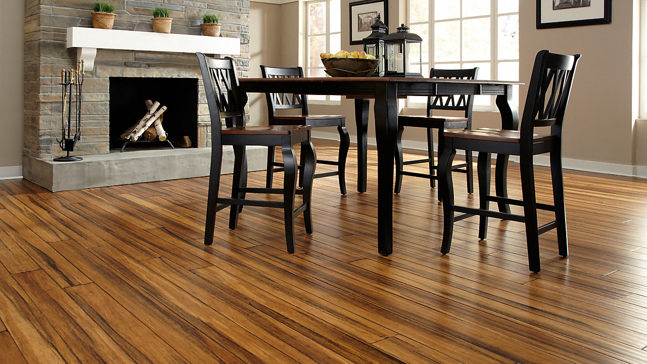 """3/8"""" x 5-1/8"""" Engineered Antique Distressed Bamboo"""