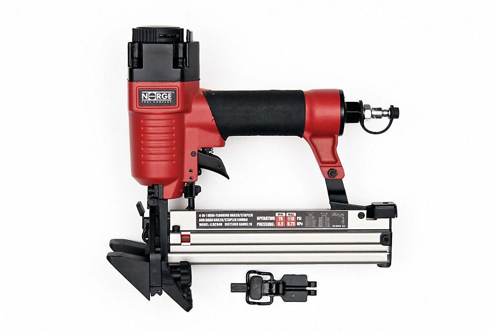 Hardwood Floor Stapler bynford 18 ga hardwood flooring stapler nailer wconversion kit to normal sta Norge 4 In 1 18g Air Nailerstapler