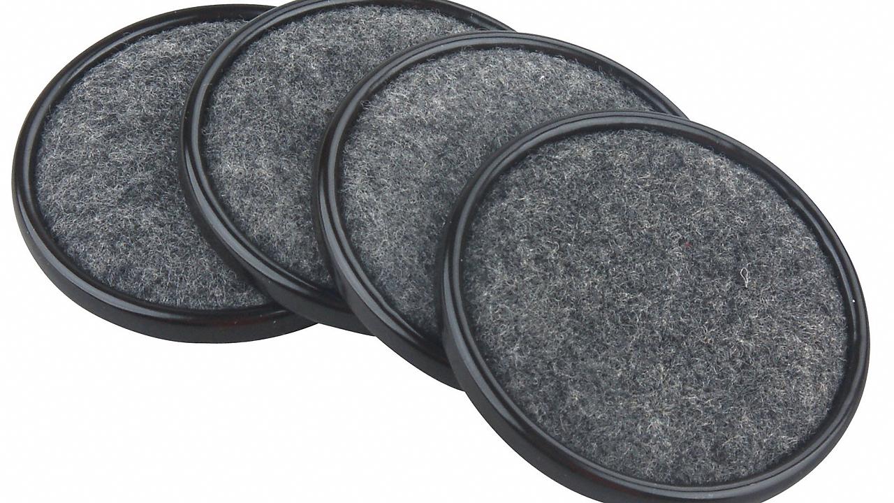 "Steel Case 2-1/2"" Felt Pads 4pc"