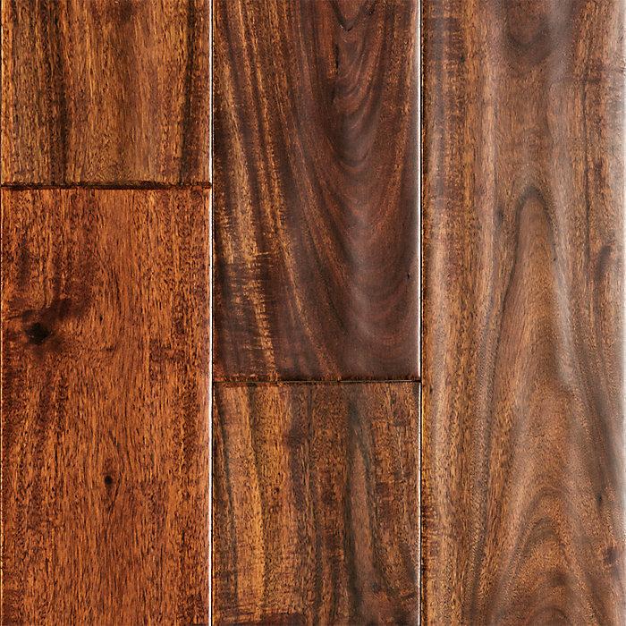 "Acacia Hardwood Flooring From Lumber Liquidators: 1/2"" X 5"" Harvest Teak Acacia Handscraped"