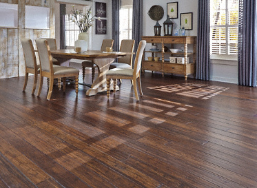 Bamboo Flooring Antique Hazel Strand Distressed Wide Plank