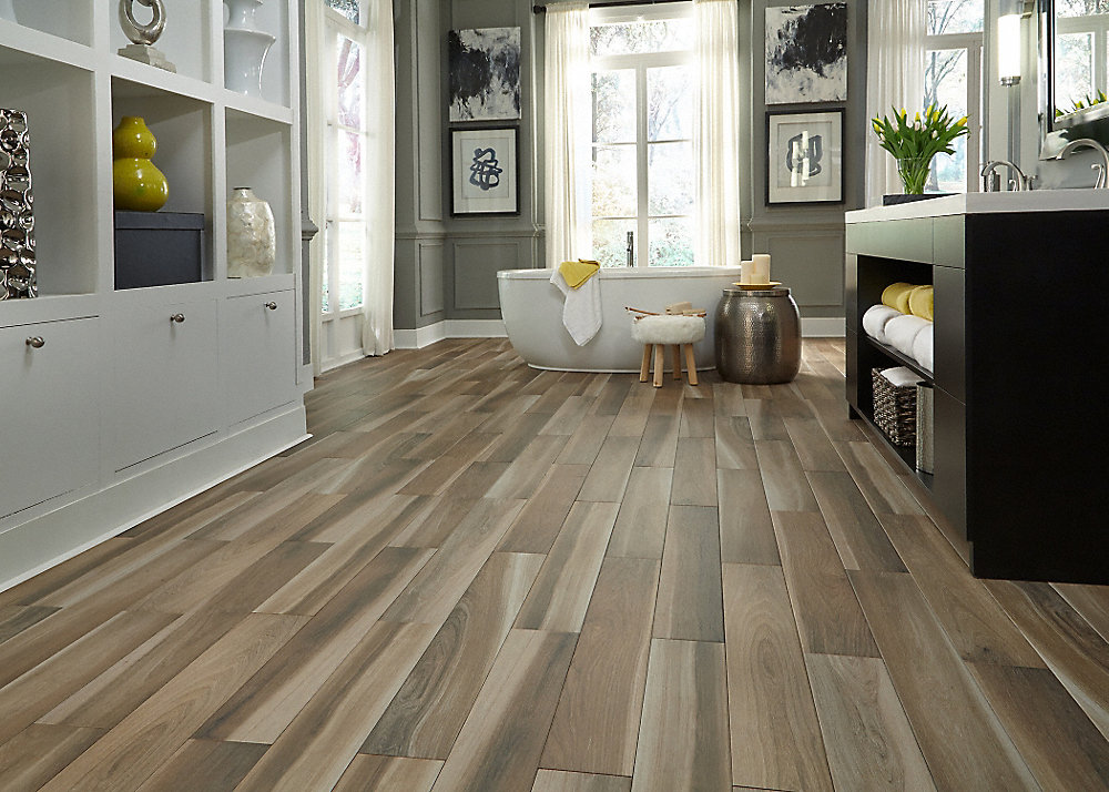 X Brindle Wood Natural Porcelain Tile Avella Lumber - Click lock porcelain tile