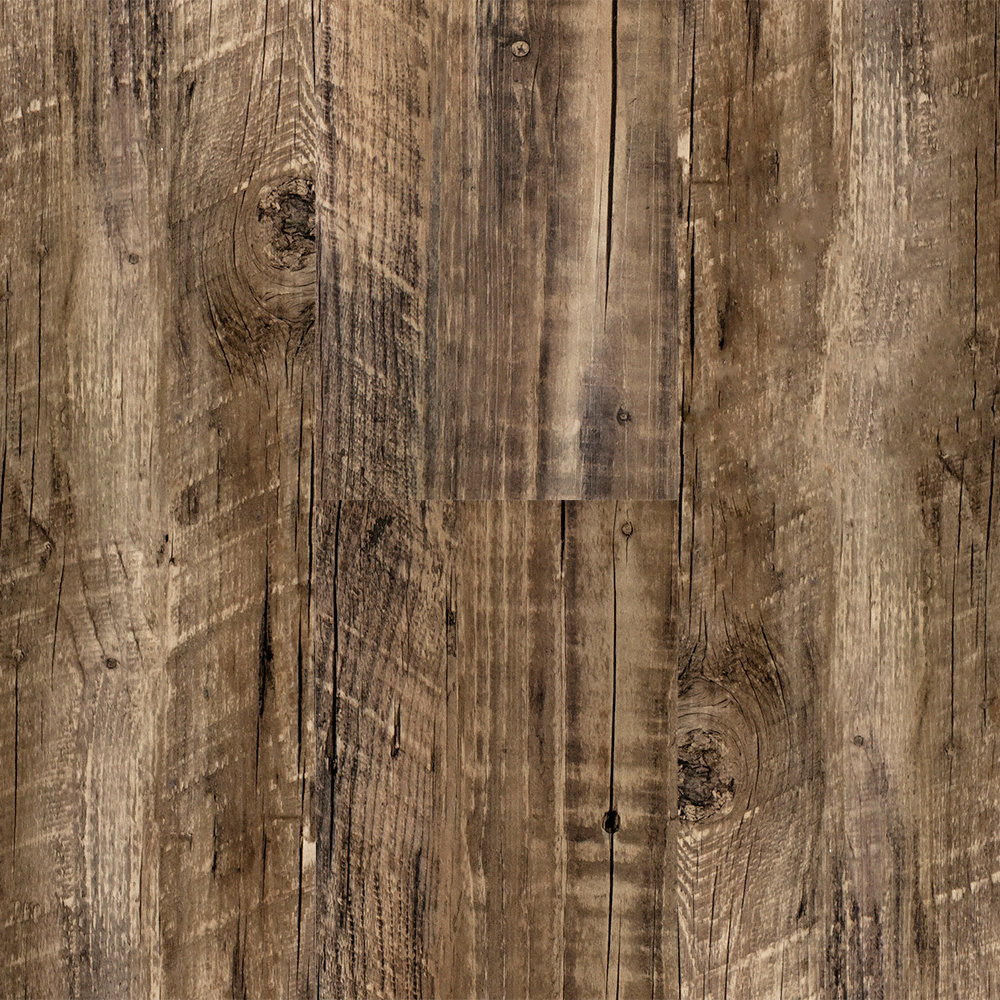 3mm rustic reclaimed oak click resilient vinyl for Hardwood decking planks