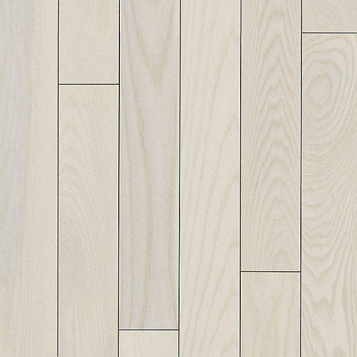 3 4 x 5 matte carriage house white ash bellawood for Ash hardwood flooring