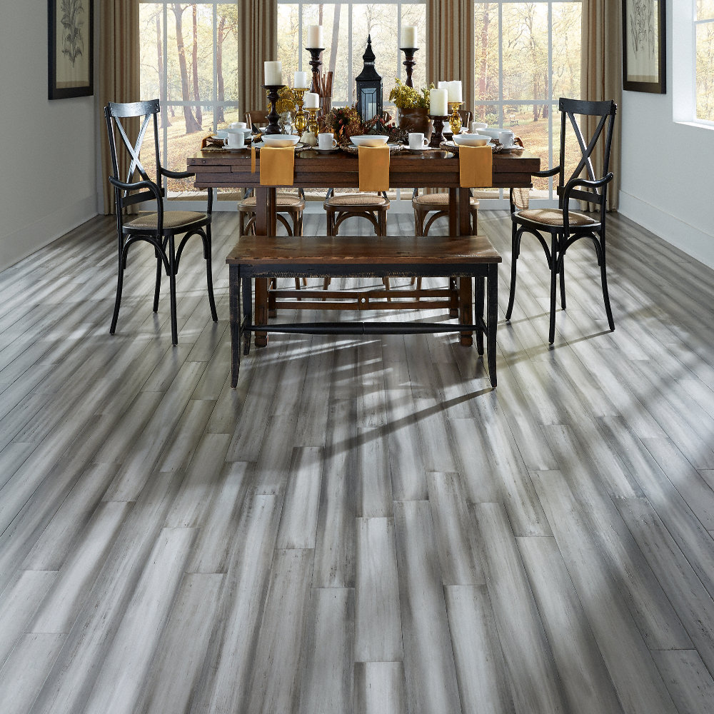 3 8 x 5 1 8 engineered distressed silver stone morning for Stonehouse manor bamboo