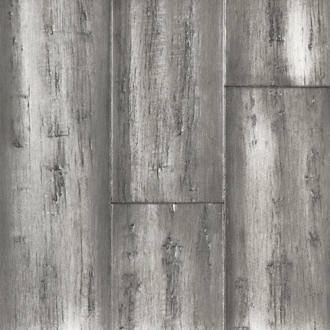 Bamboo Flooring Silver Stone Distressed Wide Plank Click
