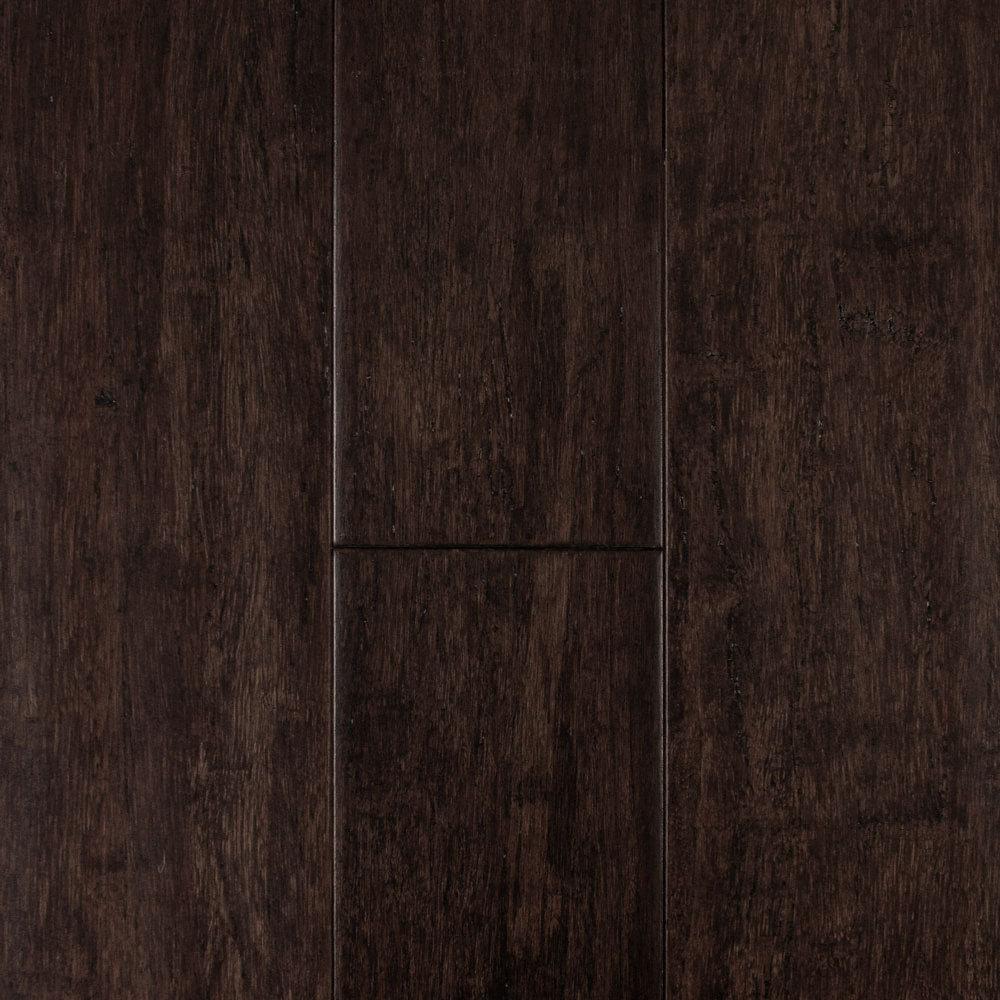 7/16 X 5 1/8 Distressed Cocoa Strand Bamboo