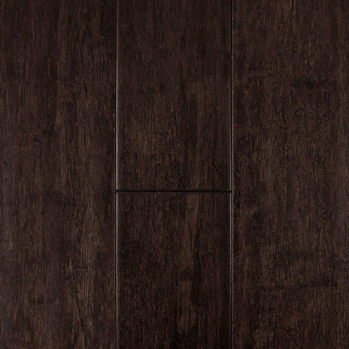 "7/16"" x 5-1/8"" Distressed Cocoa Strand Bamboo"