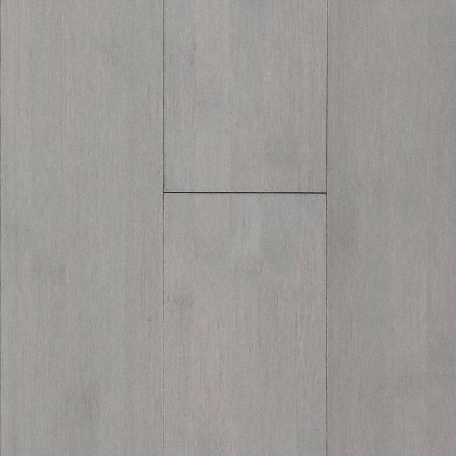 Haze Gray Smooth Solid Bamboo Flooring