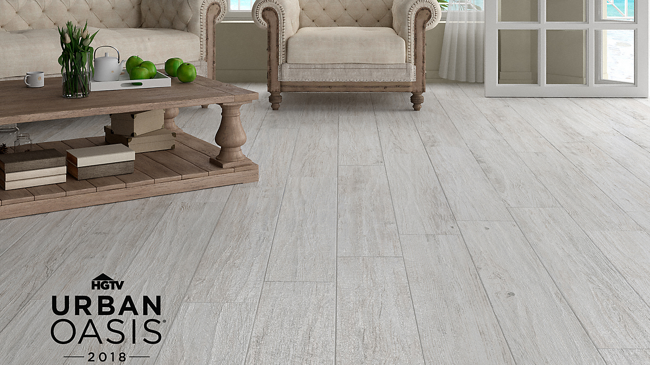 "48"" x 8"" Montego Bay Oak Porcelain Tile"