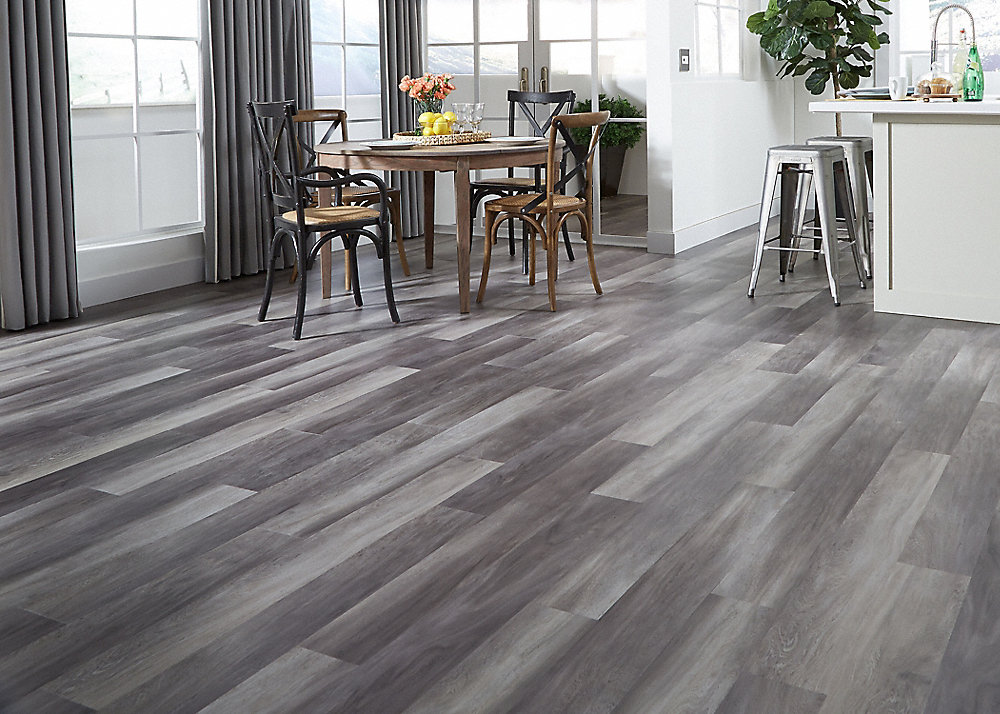 5mm Stormy Gray Oak Luxury Vinyl Plank Flooring