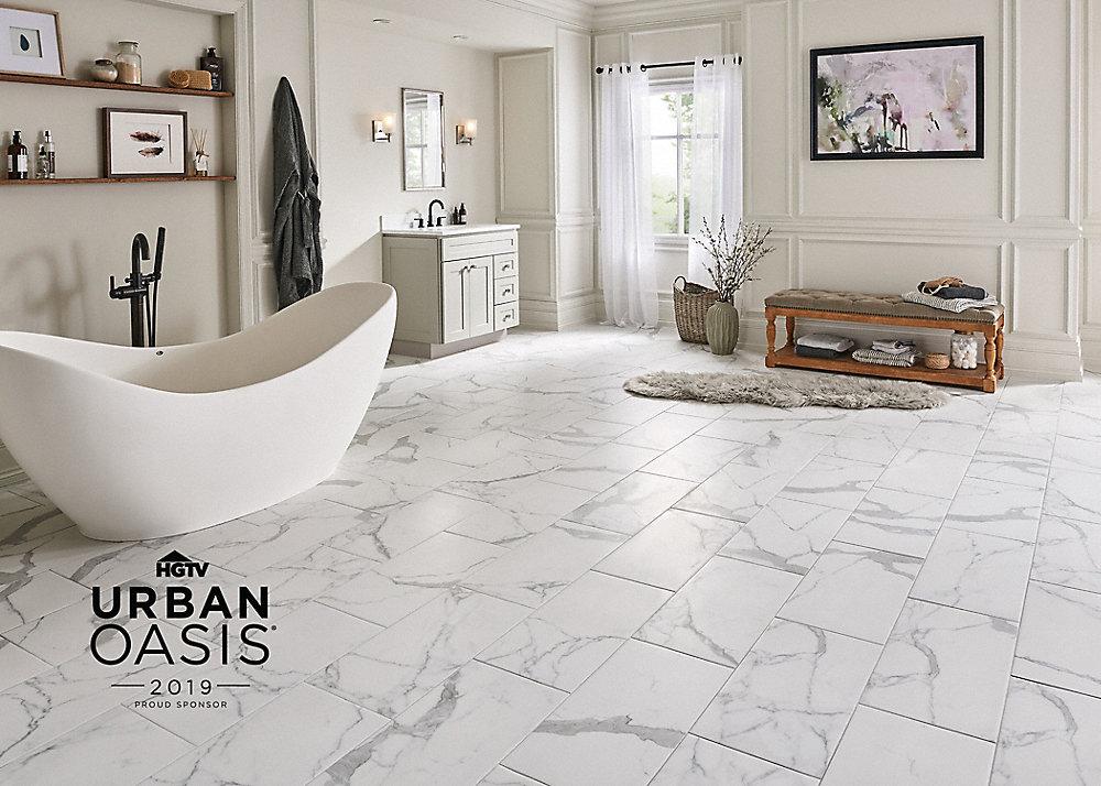 """24"""" x 12"""" Bianca Carrara Porcelain Tile"""