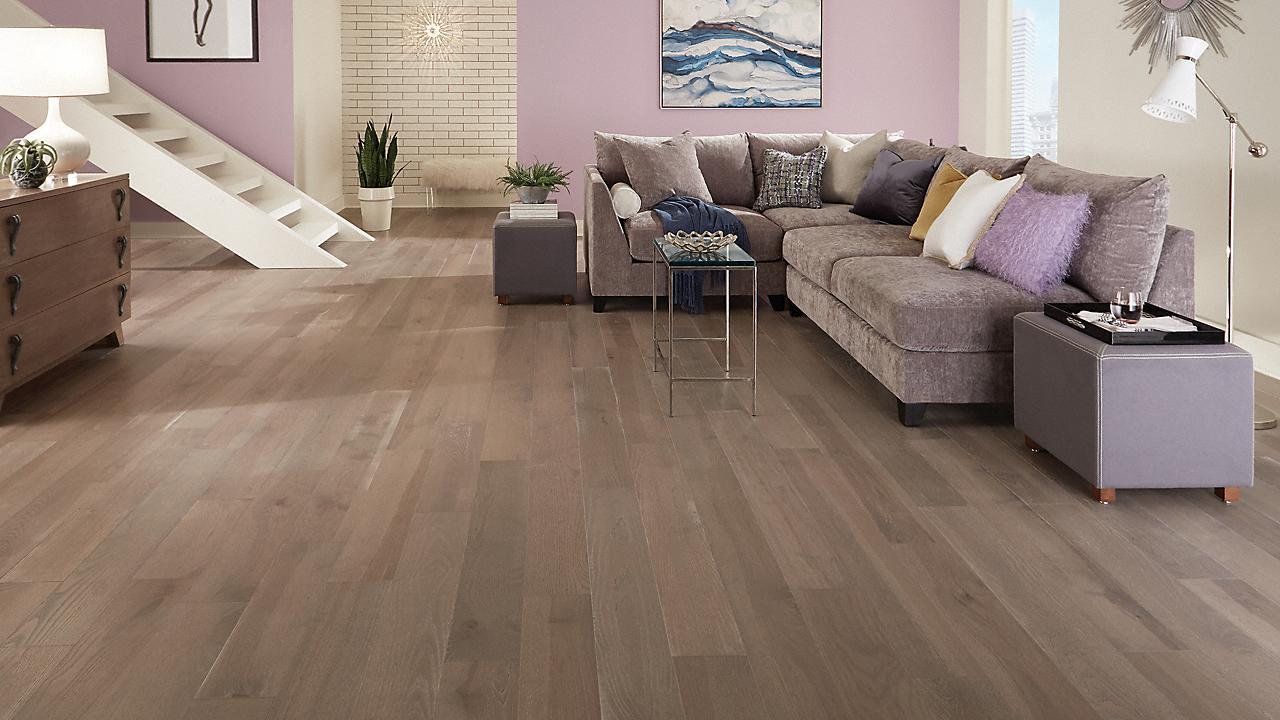 "3/8"" x 6-1/2"" Point Reyes Ash Distressed Engineered Flooring"