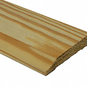 Unfinished Southern Yellow Pine Hardwood 1/2 in thick x 3.25 in wide x 8 ft Length Baseboard
