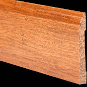 Prefinished Carbonized Strand Bamboo 1/2 in thick x 3.5 in wide x 6 ft Length Baseboard