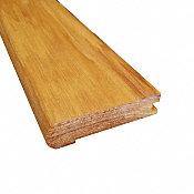Prefinished Natural Hickory Hardwood 3/4 in thick x 3.125 in wide x 78 in Length Stair Nose