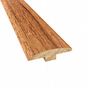 Prefinished Walnut Hickory Hardwood 1/4 in thick x 2 in wide x 78 in Length T-Molding