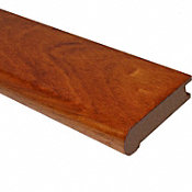 Prefinished Brazilian Cherry Hardwood 3/4 in thick x 3.125 in wide x 78 in Length Stair Nose