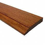 Prefinished Brazilian Cherry Hardwood 1/2 in thick x 3.25 in wide x 8 ft Length Baseboard