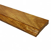 Prefinished Golden Teak Tamboril Hardwood 1/2 in thick x 3.75 in wide x 8 ft Length Baseboard