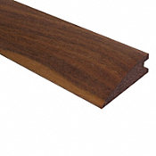 Prefinished Matte American Walnut Hardwood 3/4 in thick x 2.25 in wide x 78 in Length Reducer