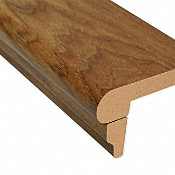 Heard County Hickory Laminate 2.3 in wide x 7.5 ft Length Flush Stair Nose