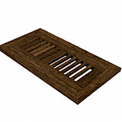 "4"" x 10"" Antique Hazel Flush Grill"