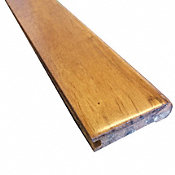 Prefinished Amber Brazilian Oak Hardwood 3/4 in thick x 3.125 in wide x 78 in Length Stair Nose