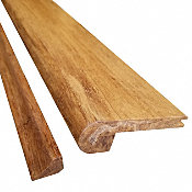 Prefinished Carbonized Strand Bamboo 3/8 in thick x 3.25 in wide x 72 in Length Stair Nose