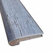 Prefinished Morning Dove Distressed Bamboo 9/16 in thick x 3.25 in wide x 72 in Length Stair Nose