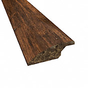 Prefinished Roasted Almond Distressed Bamboo 3/8 in thick x 2 in wide x 72 in Length Overlap Reducer