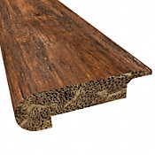Prefinished Roasted Almond Distressed Bamboo 3/8 in thick x 3.25 in wide x 72 in Length Stair Nose
