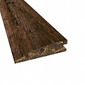 Prefinished Rustic Clove Distressed Bamboo 9/16 in thick x 2.25 in wide x 72 in Length Reducer