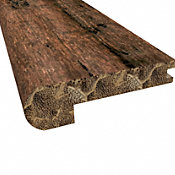 Prefinished Rustic Clove Distressed Bamboo 9/16 in thick x 3.25 in wide x 72 in Length Stair Nose