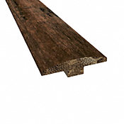 Prefinished Rustic Clove Distressed Bamboo 1/4 in thick x 2 in wide x 72 in Length T-Molding