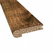 Prefinished Distressed Willow Manor Oak Hardwood 1/2 in thick x 2.75 in wide x 78 in Length Stair Nose