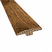 Prefinished Distressed Willow Manor Oak Hardwood 1/4 in thick x 2 in wide x 78 in Length T-Molding