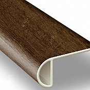 Clear Lake Chestnut Vinyl Waterproof 2.25 in wide x 7.5 ft Length Low Profile Stair Nose