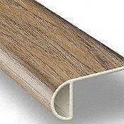 Riverwalk Oak Vinyl Waterproof 2.25 in wide x 7.5 ft Length Low Profile Stair Nose