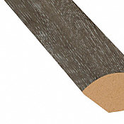 Fieldstone Oak Vinyl 1.075 in wide x 7.5 ft Length Quarter Round