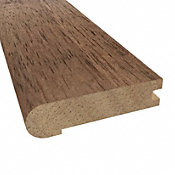 Prefinished Chestnut Hevea Hardwood 3/4 in thick x 3.125 in wide x 78 in Length Stair Nose