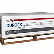 "Durock 1/4"" x 3"